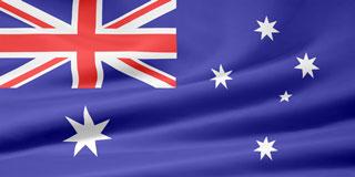 rippled Australian flag